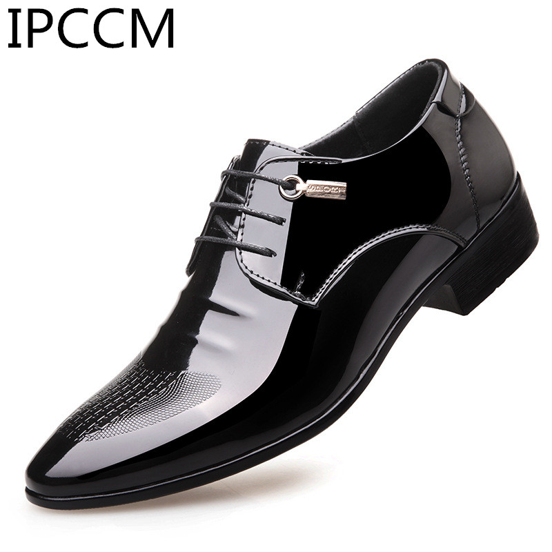 2019 Spring And Autumn New Products High Quality Business Dress Black Patent Leather England Pointed Man's Shoes