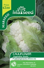 Marseed Space-saving 100 Cauliflower Vegetable Seeds Interesting Semi-Urban Garden