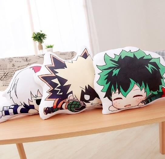 1 Pc Lovely Anime High Quality Bakugou Katsuki Todoroki Shoto Midoriya Izuku Bolster Plush Boku No Hero Academia Pillow #2