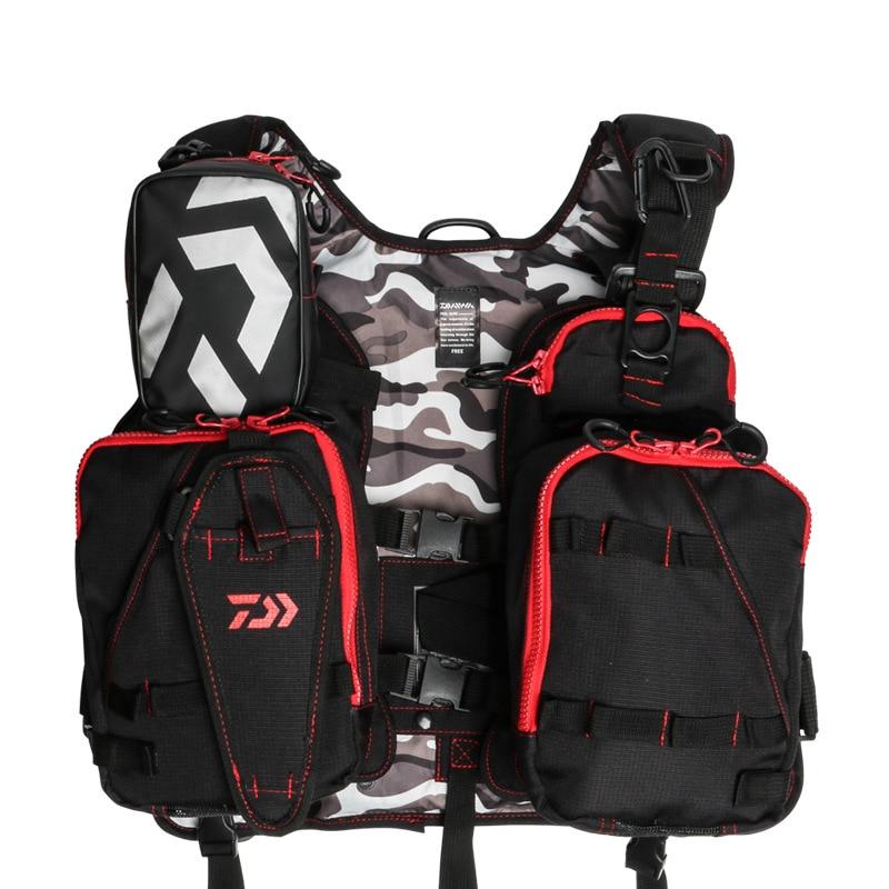 Открытый рыболовный жилет рюкзак Летающий рыболовный спасательный жилет Мульти Карманы мужчины один размер рыболовная одежда Регулируемы... - 3