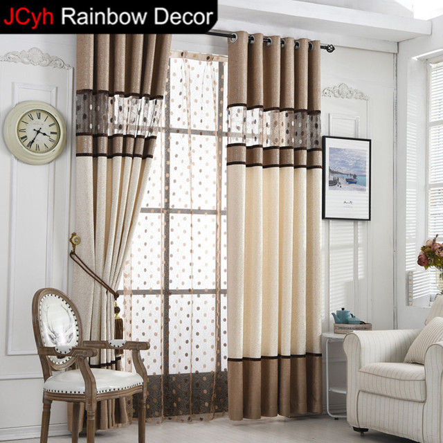 JRD Luxury Curtain Bedroom Kitchen Hollow Blackout Curtains Living Room  Bird Nest Sheer Tulle Curtain Dot
