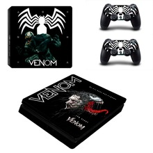 Spiderman Venom PS4 Slim Skin Sticker Vinyl For PlayStation 4 Console and 2 Controllers Stickers Decal Spider-man