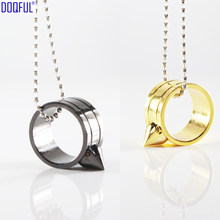 100 stks/partij EDC Tactische Beschermende Ornament Zelfverdediging Vinger Ring Bead Chain Ketting Coldplay Glas Breaker Veiligheid Survival(China)