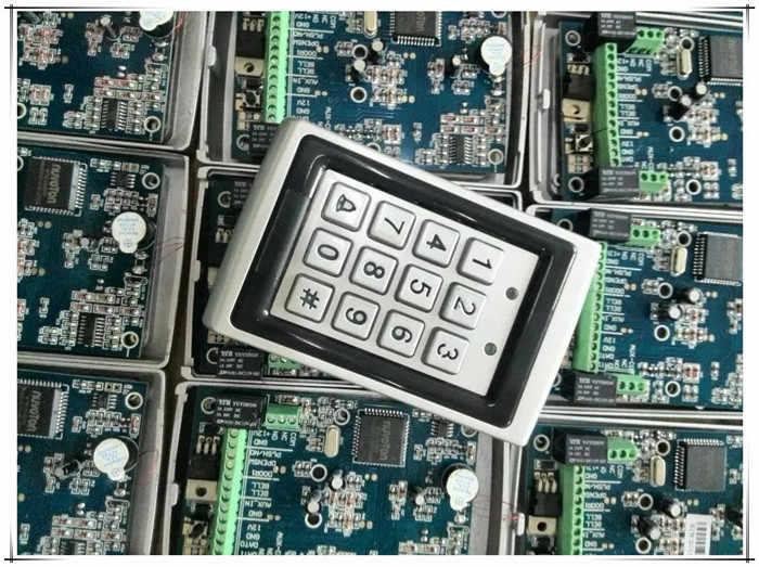 8 Knoppen Kleur Video Deur Telefoons Intercom Systemen 8 LCD Security Deurbel voor 8 Appartementen + Toegangscontrole Systeem + E-lock