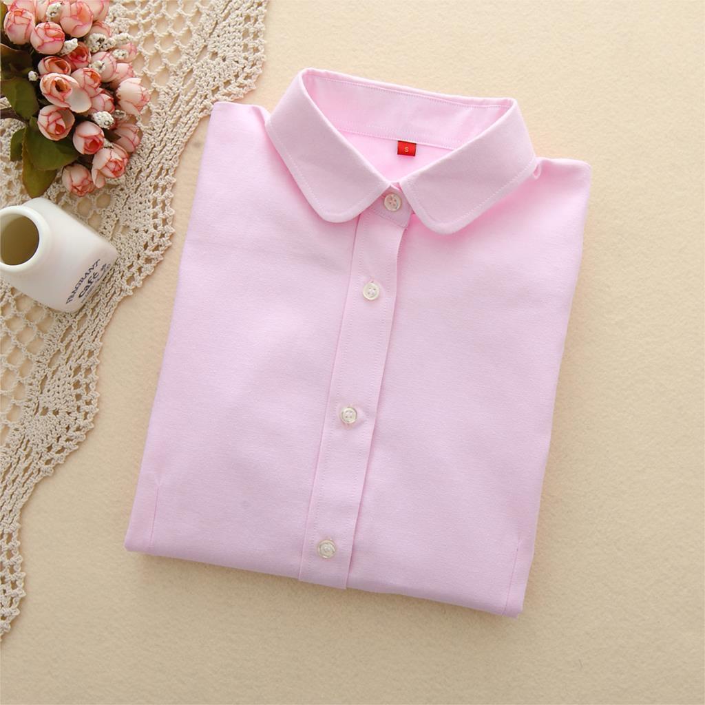 afaf568ea3a Dropwow EYM Brand 2018 New Women Blouse Shirts Oxford Cotton Long ...