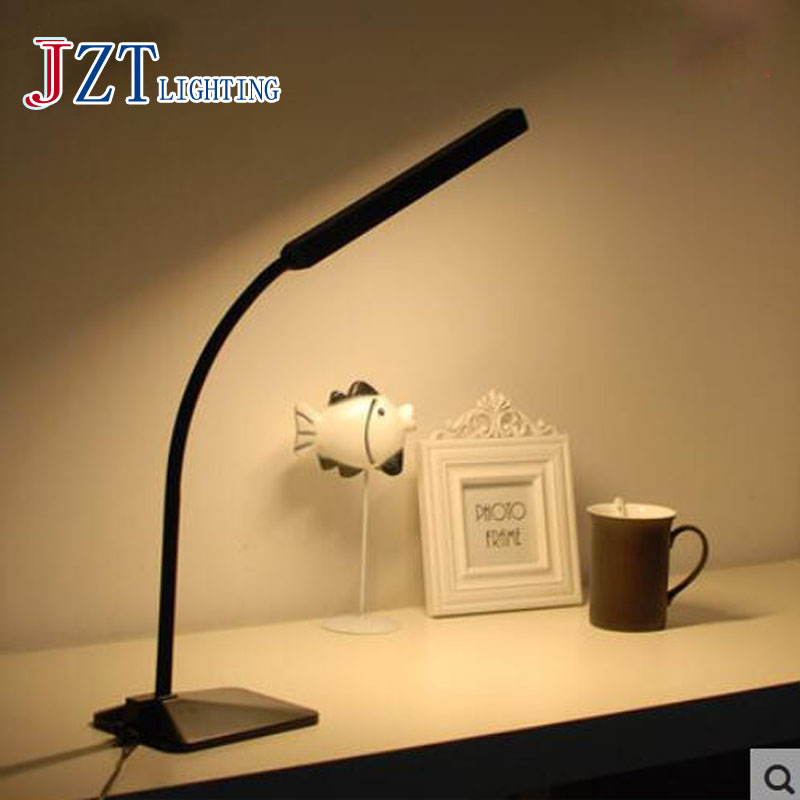 T 2016 New Simple Creative Led Eye Protection Table Lamps Reading Working Light Desk Soft