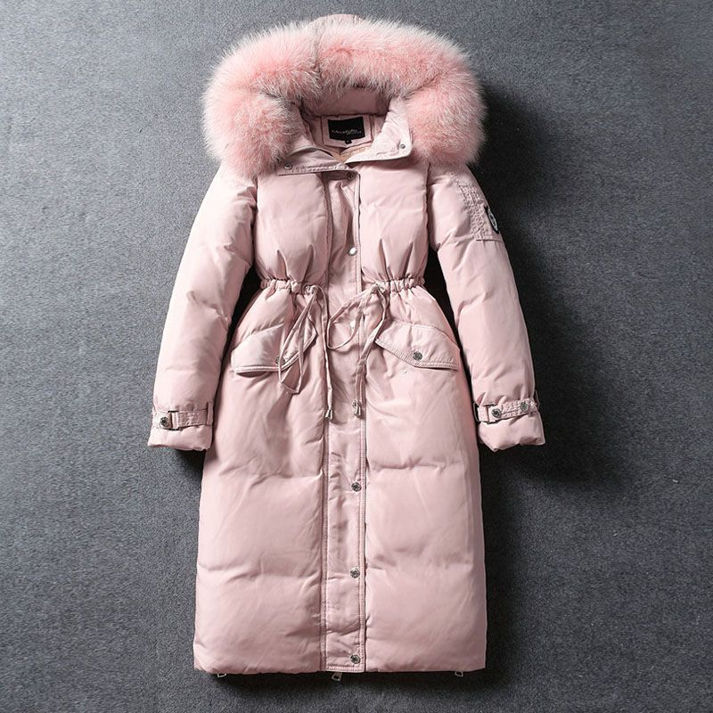 2017 New 90% Duck Down Winter Coat High Quality Women Warm Fur Collar Jacket Plus Size Thick Long White Duck Down Parka YP0636 high quality real fur female winter in the new middle aged down jacket women white duck down sundae feather thick coat l 5xl
