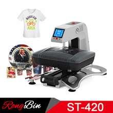 ST420 3D Vacuum Sublimation Heat Transfer Machine T-shirt Pneumatic Sublimation Printer Heat Press for Mug Phone Case Glass Rock