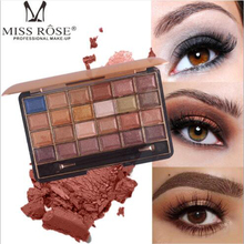 MISS ROSE24 Color Eyeshadow Beauty South American Pearlescent Matte Palette Cosmetics