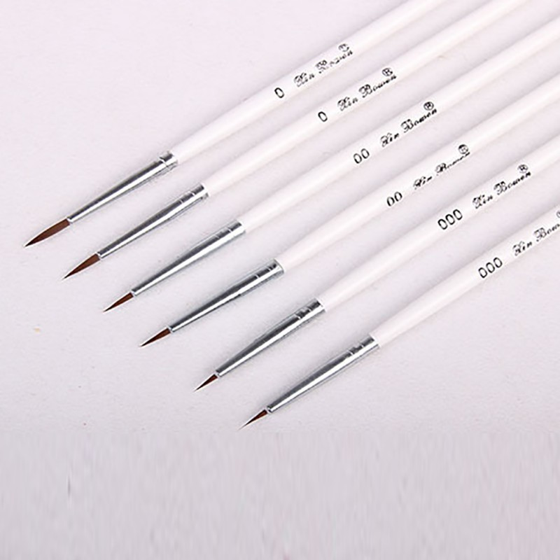 6pcs/lot Fine Hand-painted Hook Line Pen Round Tip Watercolor Drawing Brush Pen Student Stationery Art Supplies