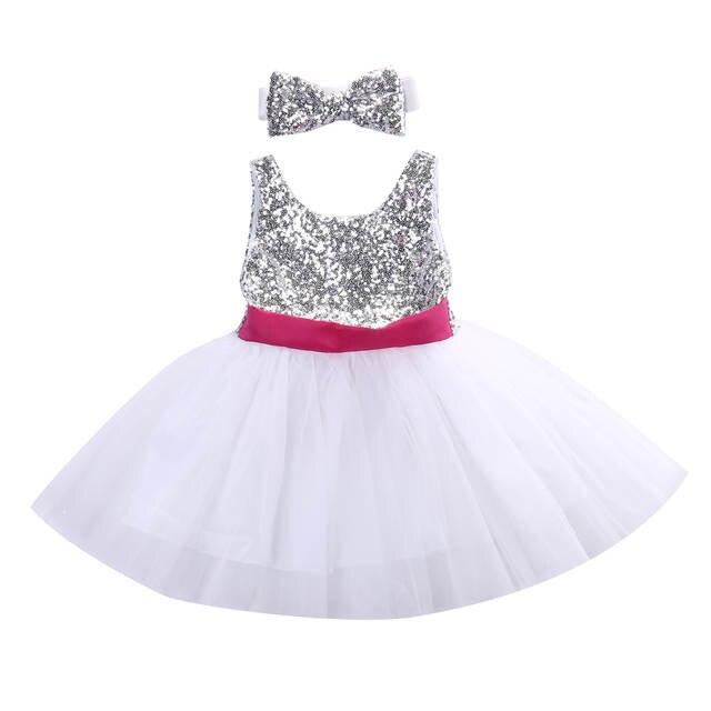 d027d9a78 Online Shop Baby Kids Girls Princess Dress Sequined Wedding Gown ...
