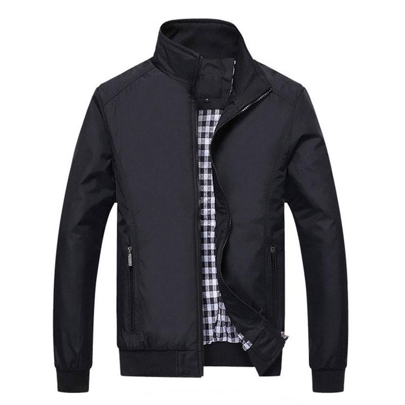 2017 Men's Spring Summer Jacket Casual Coat New Fall Mens Fashion Comfortable Korean Style Jacket Collar Outerwear