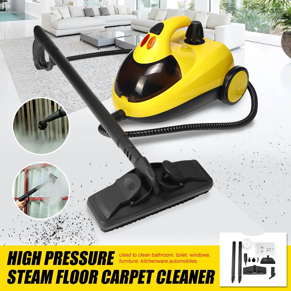 De alta Pressão máquina de Lavar Máquina de Limpeza A Vapor Chão Tapete Limpo 13in1 AU220V 1.5L4.0 Bar 1800 W 360 Roda para o Banheiro Limpo carro