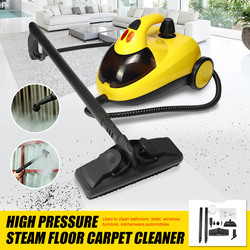 High Pressure Steam Floor Carpet Cleaner Washer Cleaning Machine 13in1 AU220V 1.5L4.0 1800W Bar 360 Wheel for Clean Bathroom Car