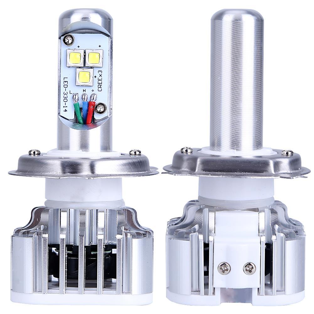 H4 9003 HB2 Светодиодная лампа для автомобильных фар мотоцикла дальнего и ближнего света 30 Вт 3000LM 6000 К DC12V 24 в ATV SUV DRL противотуманная фара FISHBERG