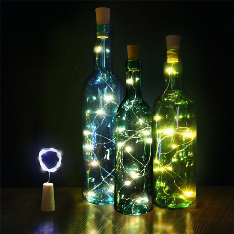 Iluminação da Novidade garrafa levou luz estrelas guirlanda Bateria : 3pcs Buttons Lr44 Bateria