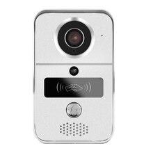 Free Shipping NEW Wireless Wifi RJ45 LAN 720P IP Doorbell Door Camera RFID Access Video Intercom Electric Control Lock System