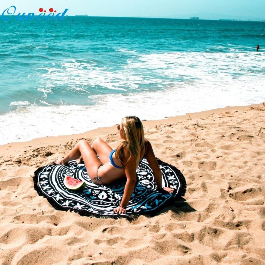 New Hot Beach towel( Serviette de plage ) Round Beach Pool Home Shower Towel Blanket Table Cloth Yoga Mat Mar731