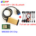 Gold CDP With bluetooth+OKI chip 2015.R1 with keygen TCS CDP Pro plus with Full set 8 car cables auto diagnostic tool