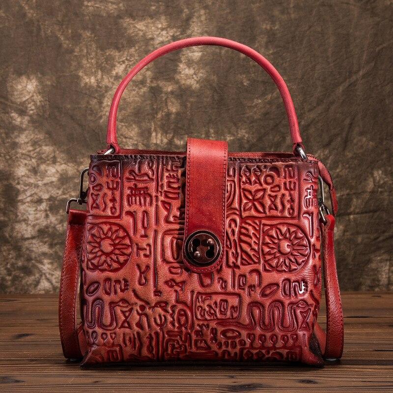 Bagaj ve Çantalar'ten Omuz Çantaları'de Yüksek Kalite Kadınlar Hakiki Deri omuz askılı postacı çantaları Oracle Kemik Desen Inek Derisi Tote Çanta Crossbody Üst Kolu Çanta Yeni'da  Grup 1