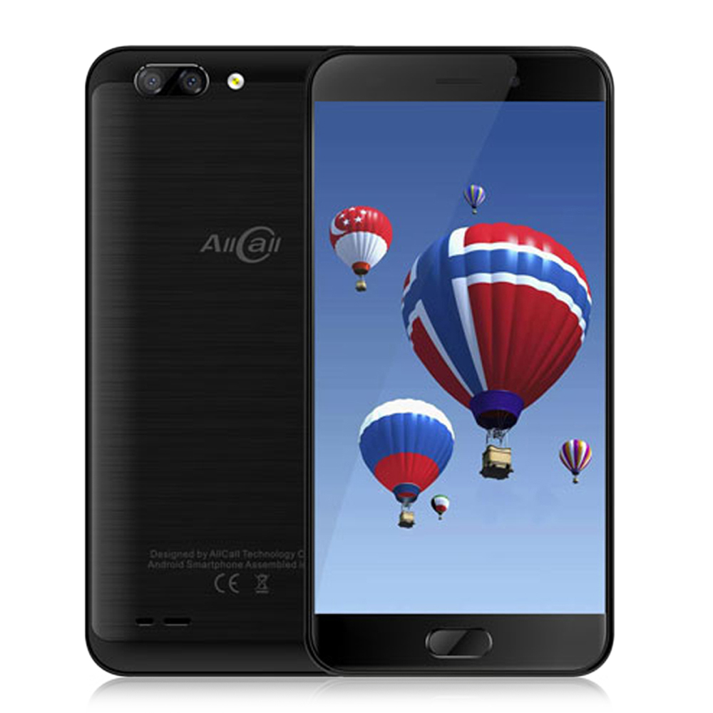 AllCall Atom 4G Smartphone 5.2 Inch Android 7.0 MTK6737 Quad Core 1.3GHz 2GB+16GB Cellphone 2.0MP+8.0MP Dual Rear Cameras Phone