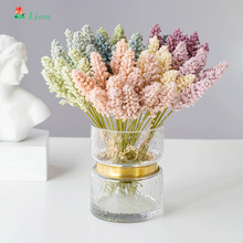 цена на 6Pcs Cereal Flower Artificial Grass Branch  Fake Plants  Artificial Trees for Home Decor PP House Plants Bonsai  Ramas De Trigo
