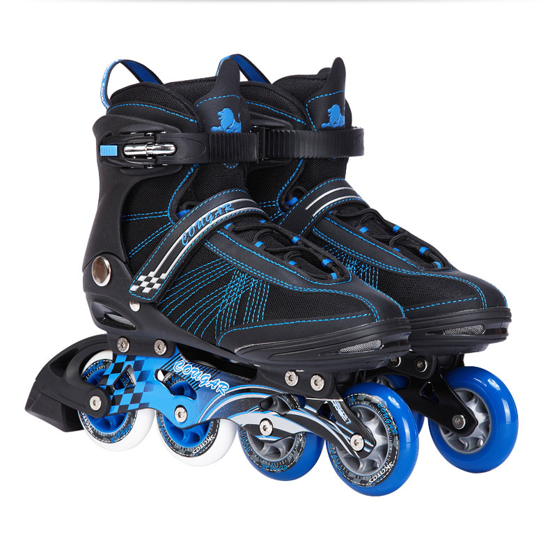ФОТО Adults Inline Skates Shoes Outdoor Leisure Athletic Roller Skating Shoes Slalom/FSK Hockey Patines for Men Women Size EU 38--45