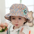 4 Colors Hot Cute Summer Floral Printing Kids Toddlers Baby Girls Sun Hat Beach Bucket Cap Beanies Infant accessories C013