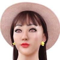 KOOMIHO Spezielle Weiche Silikon Realistische Weibliche Kopf Maske Crossdress Cosplay Maske Transgender Halloween Maske Drag Queen 1G