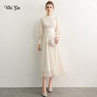 weiyin Luxury Evening Dresses Full Sleeve ELace Elegant Zipper Famous Designer Party Formal Dress WY1093