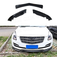 3PCS ABS Front Lip Spoiler Cover Trim for Cadillac ATS 2015 2018 Black Front Bumper Exterior Modify Accessories|Bumpers| |  -