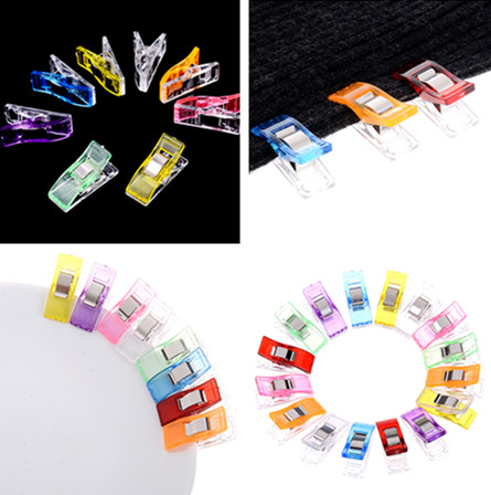 10Pcs Multi Color Plastic Clips Holder DIY Patchwork Fabric Quilting Craft Sewing Knitting Clips Home Office Supply