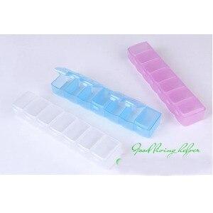Image 2 - 휴대용 알 약 상자 7 긴 스트립 투명 알 약 상자 7 구획 저장소 상자 주 알 약 다기능 가정용 제품 qw104
