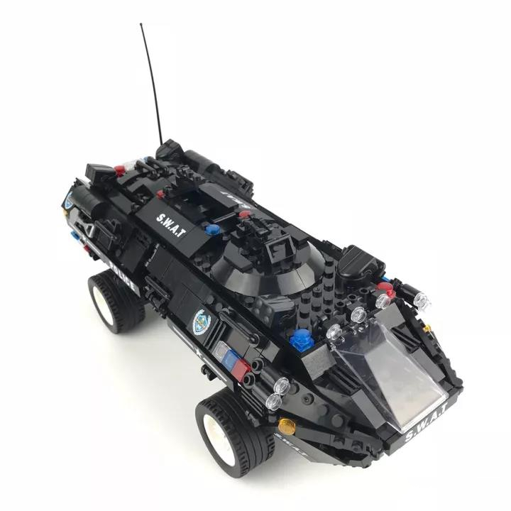 1044pcs Military Raptor Amphibious Armored Vehicles with Light Building Blocks Brick DIY Model Figures Toy knl hobby voyager model pea100 m1126 stricker wheeled armored vehicles with additional fence armor metal etching sheet