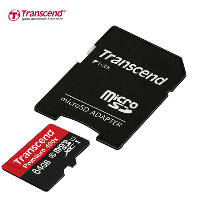 Transcend High Quality 64GB Micro SD card Class10 UHS-1 SDXC High Speed Memory Card for Phone/Tablet/Camera
