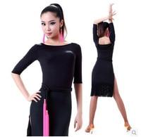 Belly dance costume sexy Modal cotton tassel latin dance dress for women latin dance competition costume dresses