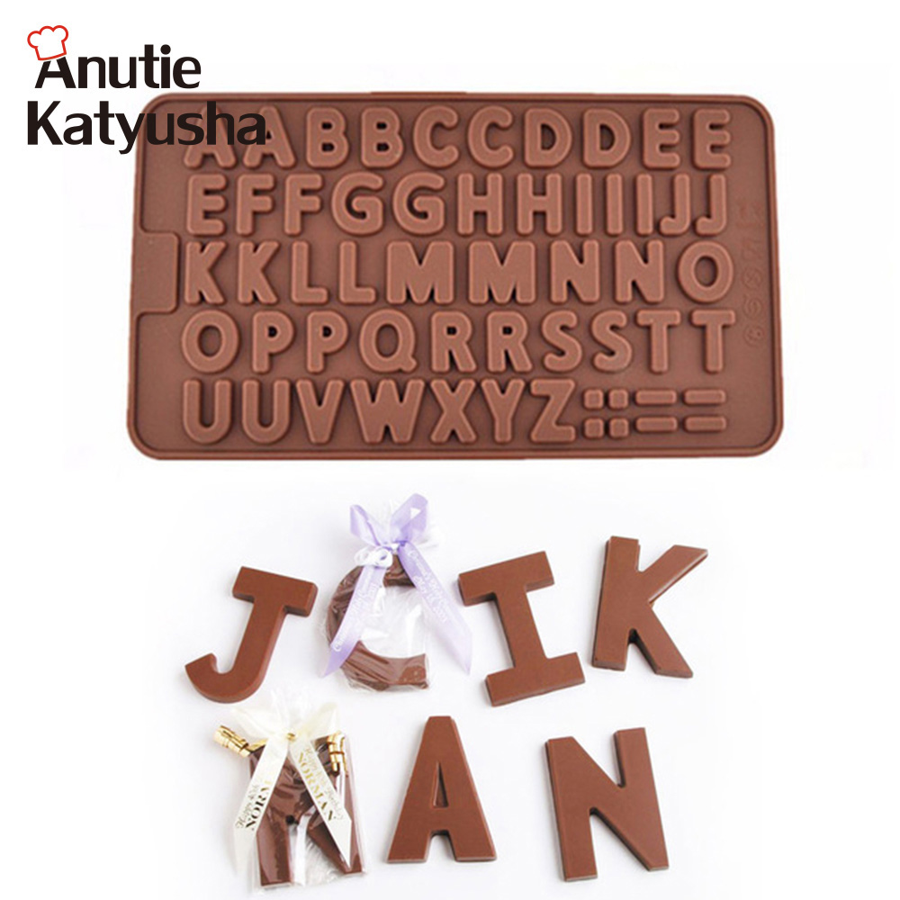 26 Letters Shape Silicone Chocolate Mold DIY Handmade Cake Decorating Tray Baking Tools Ice Jello Pudding Moulds Clearance Sale