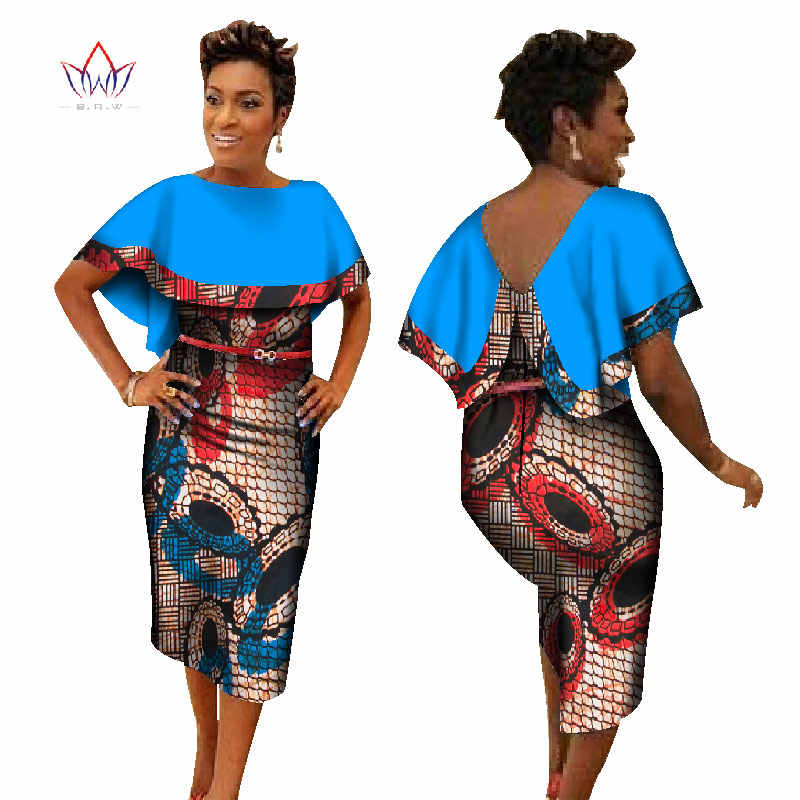 c1ae6115dbe6 ... Binta Real Wax New Style 2019 African Dresses for Women African Print  Traditional Clothing Knee-