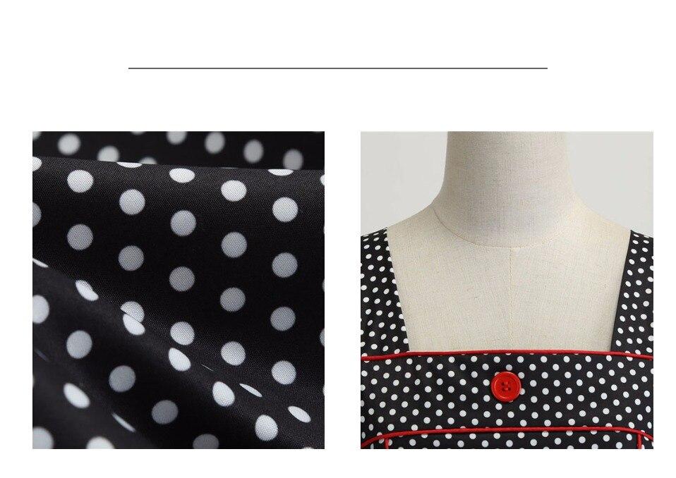 Koktejlové Retro párty šaty jednofarebné prešívaný lem bodky (5 variánt) 14