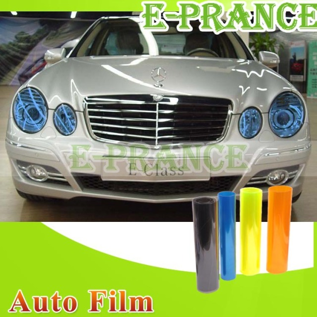 "12"" x 48"" Auto Car Headlight Sticker Smoke Fog Light Taillight Tint Vinyl Film Sheet Free Shipping #CPC0055"