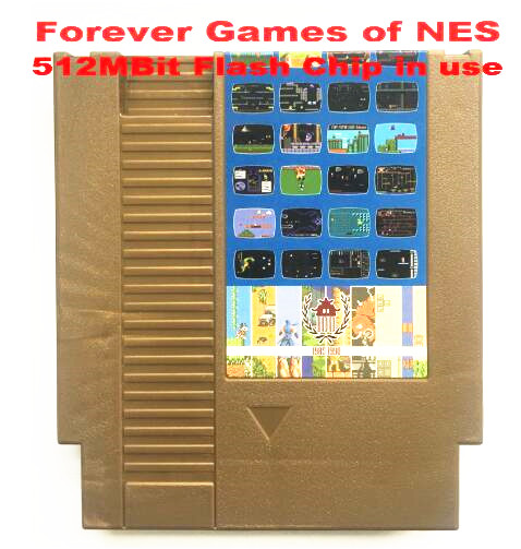 FOREVER GAMES OF NES 405 in 1 Game Cartridge for NES Console,72 pins game cartridge
