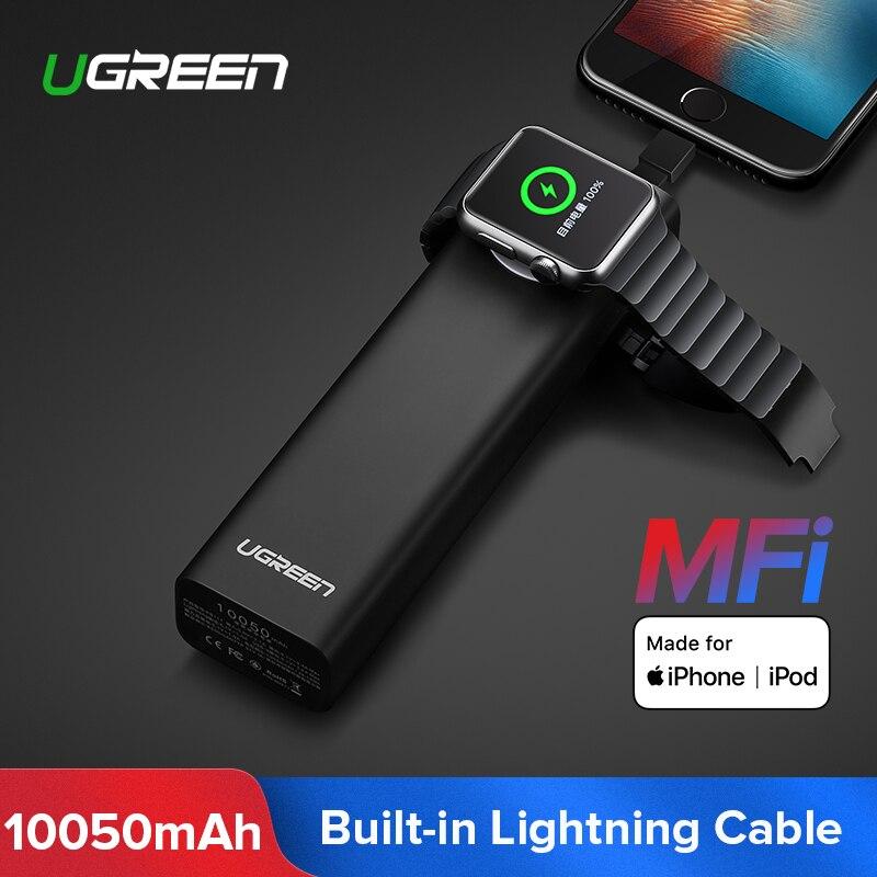 Ugreen Wireless Charger Power Bank 10050mAh for Apple Watch 4 3 2 iPhone 8 External Battery