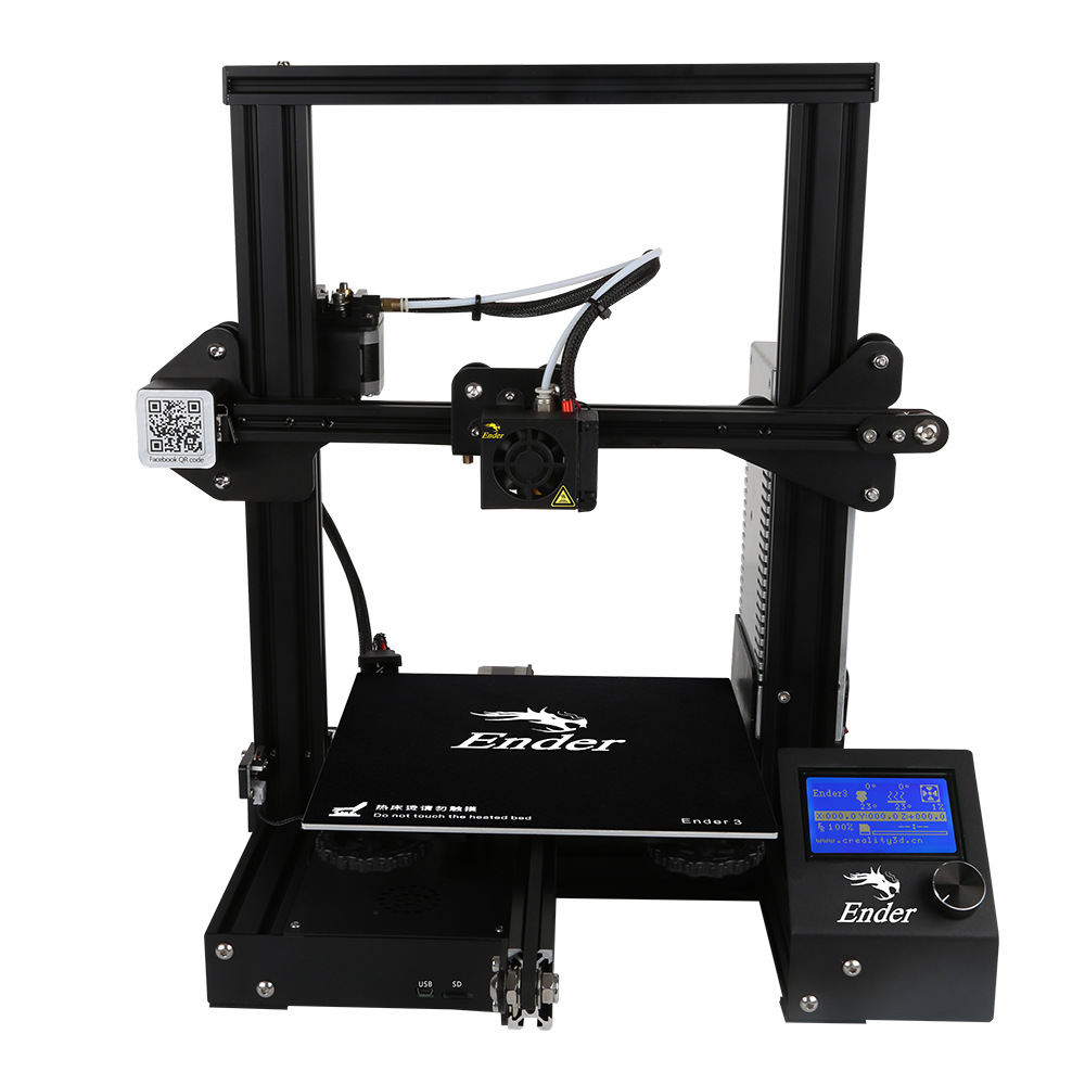все цены на Creality 3D Ender-3 3D printer DIY Kit 220*220*250 printing V-slot Large Size 180mm/s I3 mini printer 3D Continuation Print онлайн