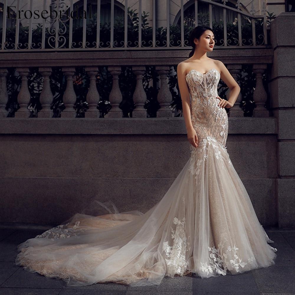 Sweetheart Mermaid Wedding Gown: Aliexpress.com : Buy Sweetheart Wedding Dress Appliques