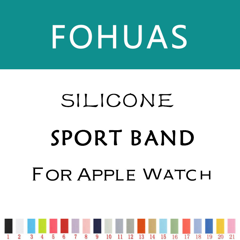 fohuas new Silicon Sports Band Strap 38mm For Apple Watch Accessory Wristband Replacement 42mm link Bracelet Series 1 Series 2 цена