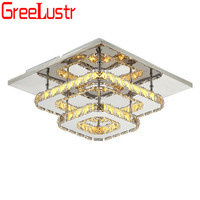 Luxury 2 Layer K9 Crystal LED Ceiling Lamps For Living Room Indoor Chandelier Lights Lustre Plafon Home Deco Kitchen Lighting