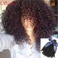 Бразильские Волосы Девственницы 3 Связки Kinky Вьющиеся Волосы Девственницы Афро странный Вьющиеся Волосы 10A Необработанные Afro Kinky Вьющиеся Weave Человека волос