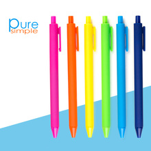 8 ps/set Simple 0.5mm ballpoint pen for students office staff Colorful comfortable pens economical and practical use