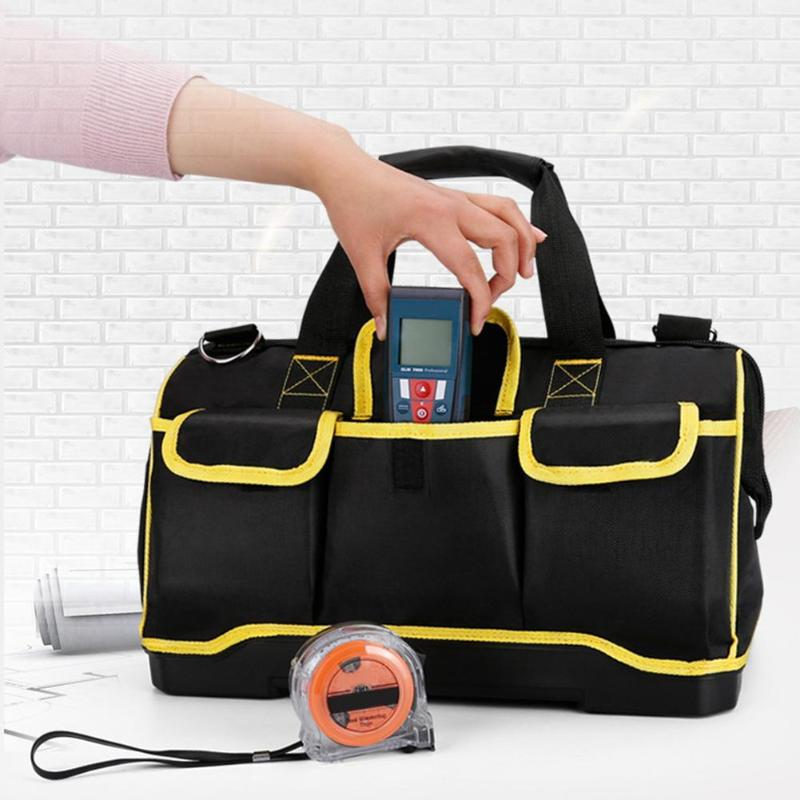 Multi Funtional Tool Bag Waterproof Hardware Tool Bags Large Double-layer Capacity Oxford Cloth Electrician Toolkit Handbags hoomall large capacity tool bag multifunction oxford professional electrician shoulder toolkit waterproof wearable tools bag new
