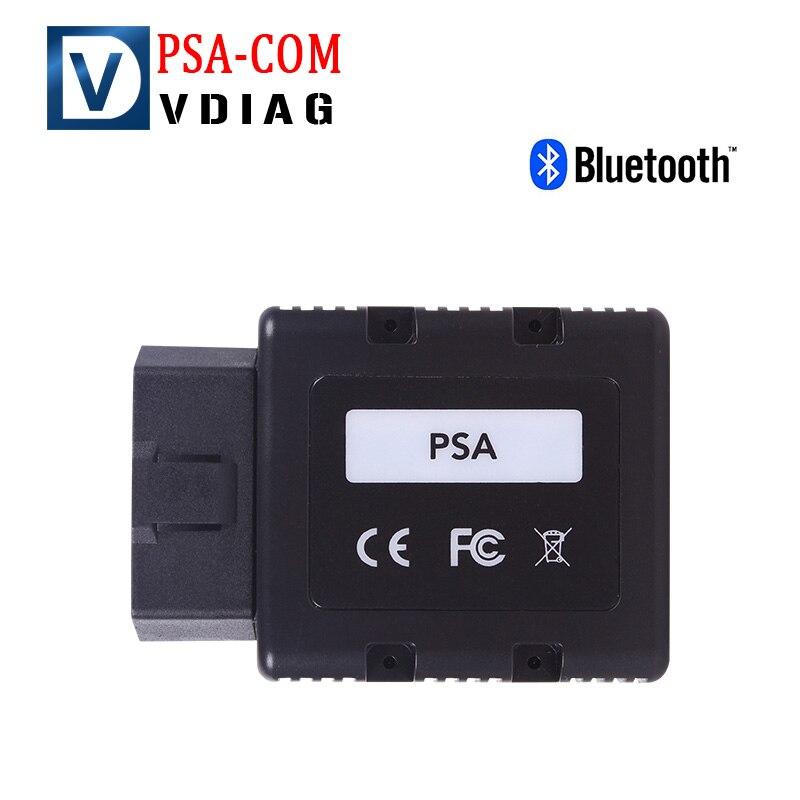 Цена за Новый PSA-COM psacom Bluetooth диагностики и программирования инструмент для Peugeot Citroen Замена Lexia-3 PP2000 Бесплатная доставка
